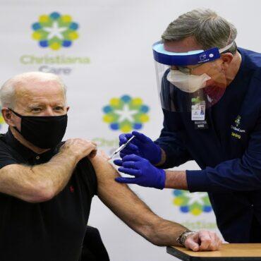 Joe Biden receiving vaccine